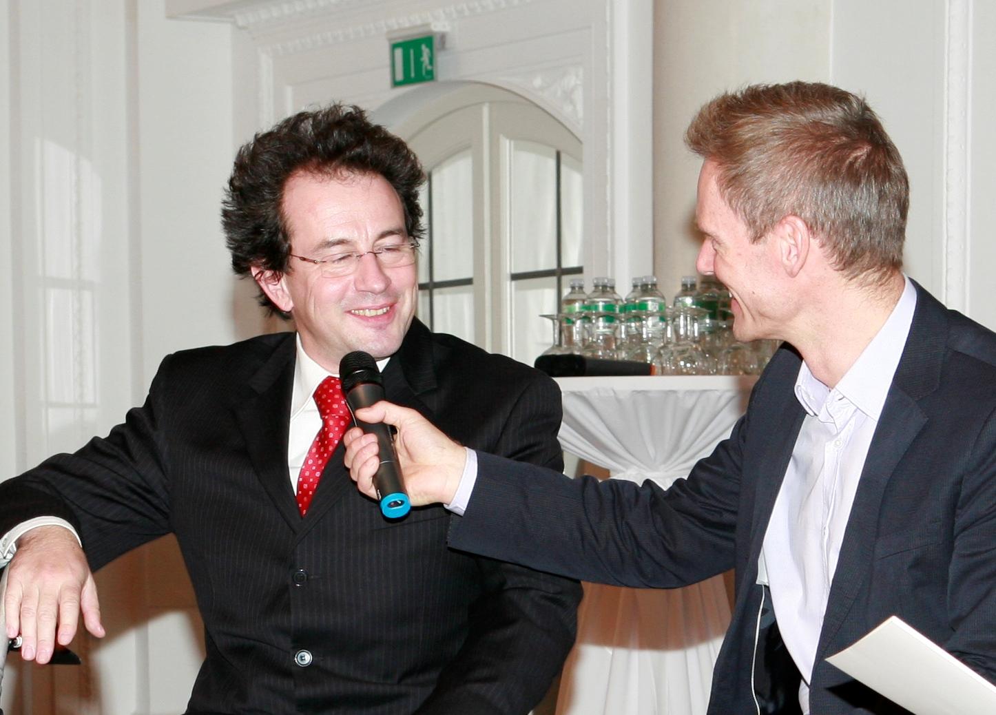 Prof. Martin Haas mit Moderator Ingolf Bauer